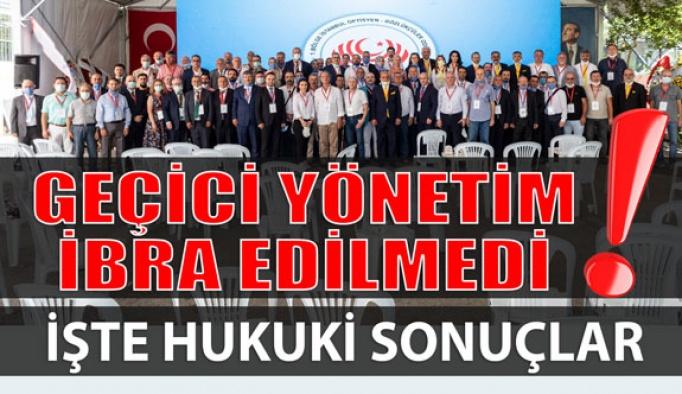 Geçici İstanbul Oda Yönetimi İbra Edilmedi!