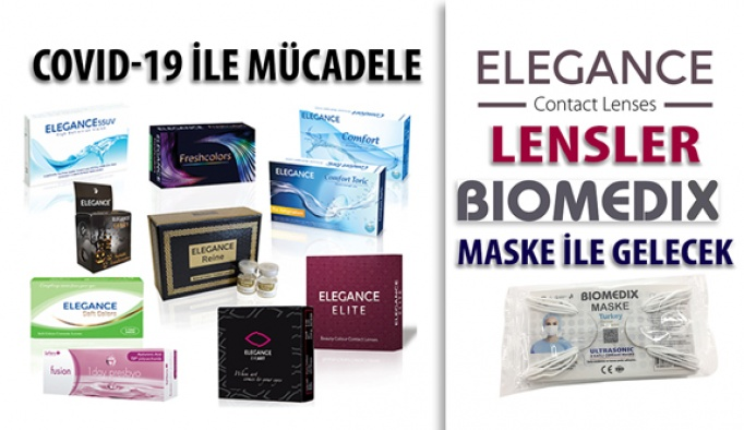 Elegance Kontak Lensler 5 Adet Biomedix Maske İle Geliyor