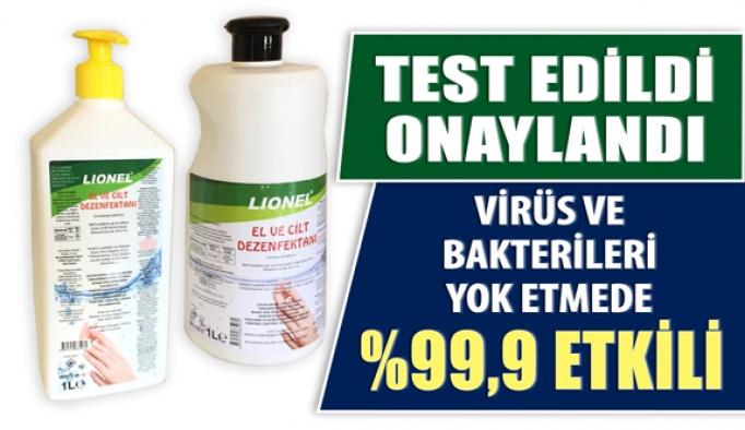 Lionel Dezenfektan Virüs ve Bakterileri Yok Etmede %99,9 Etkili