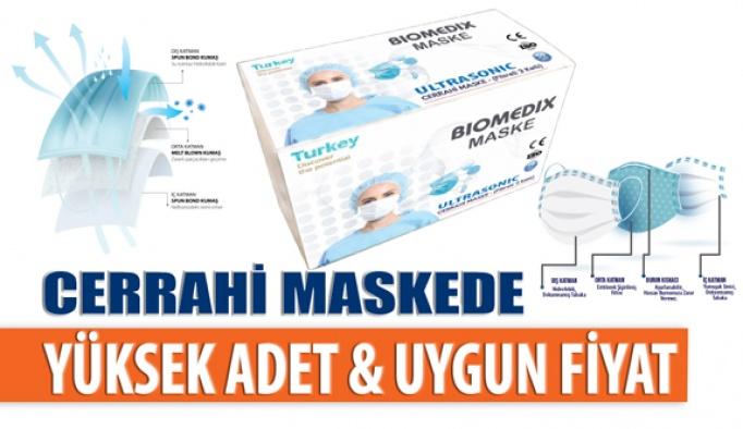 Biomedix Cerrahi Maskede Uygun Fiyatlı Çoklu Alım İmkânı