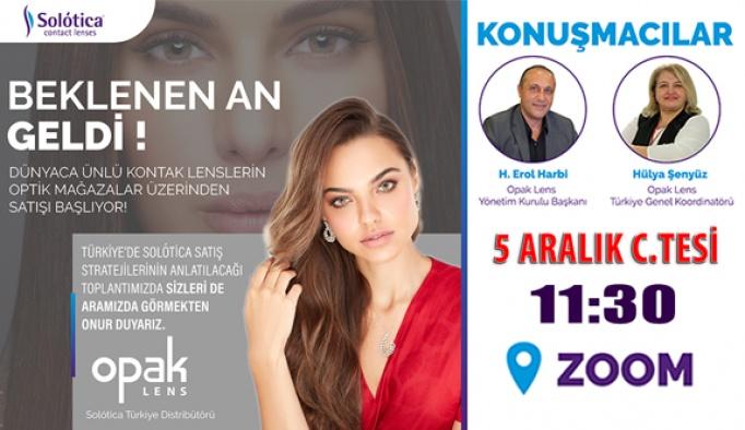 Solotica Lens Türkiye Tanıtım Toplantısı 5 Aralık Cumartesi