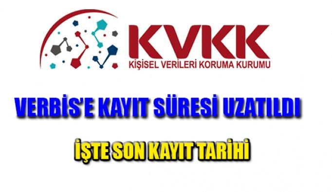 KVKK VERBİS'e Kayıt Süresinin Uzatıldığını Açıkladı