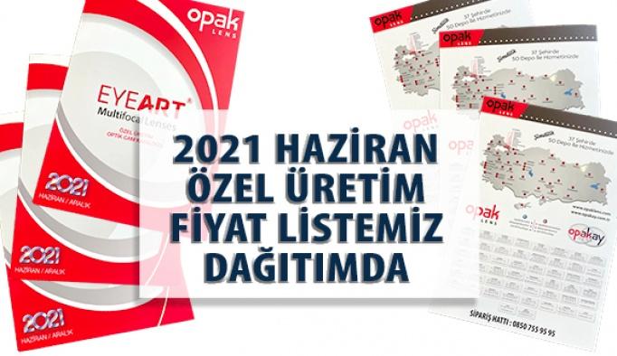Opak Lens EYEART Özel Üretim Camlarının Yeni Fiyat Listesi Dağıtıma Çıktı