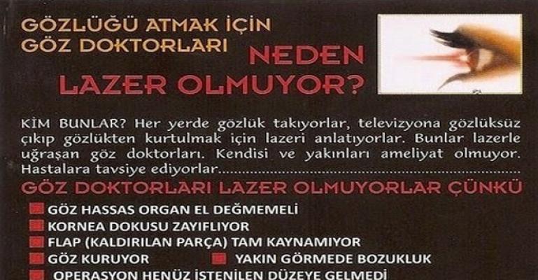 Göz Doktorları Neden Lazer Ameliyatı Olmuyor ?