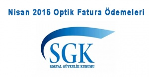 Nisan 2015 Optik Fatura Ödemeleri!