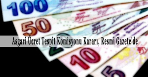 Beklenen Haber: Asgari Ücret Net 1300 TL Oldu!