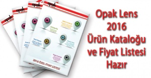 Opak Lens 2016 Ürün Kataloğu