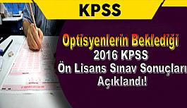 Optisyenlerin Beklediği 2016 KPSS...