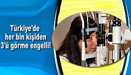 Türkiye'de her bin kişiden 3'ü görme engelli!