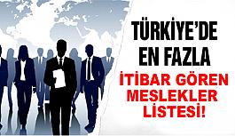 Türkiye'nin en itibarlı meslekleri açıklandı!