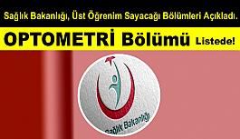OPTOMETRİ Bölümü Listede!