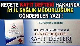 REÇETE KAYIT DEFTERİ HAKKINDA 81...