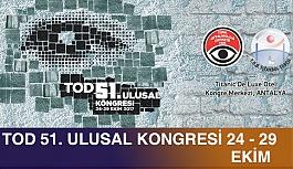 TOD 51. Kongresi 24-29 Ekim'de Antalya'da Yapılıyor