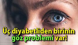 Üç diyabetliden birinin göz problemi var!