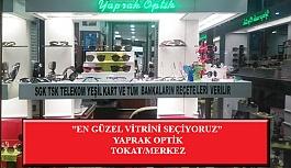 """""""En Güzel Vitrini Seçiyoruz"""" Yarışması: Yaprak Optik-Tokat/Merkez"""
