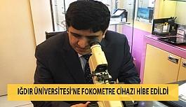 Iğdır Üniversitesi'ne Fokometre Cihazı Hibe Edildi
