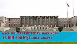 Meclisin Ücretsiz Tedavi Hakkından Toplam 13 Bin 500 Kişi Yararlanacak