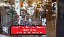 """""""En Güzel Vitrini Seçiyoruz"""" Yarışması: Runo Optik- Bahçelievler/Ankara"""