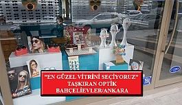 """""""En Güzel Vitrini Seçiyoruz"""" Yarışması: Taşkıran Optik- Bahçelievler/Ankara"""