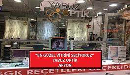 """""""En Güzel Vitrini Seçiyoruz"""" Yarışması: Yabuz Optik- Afyon"""