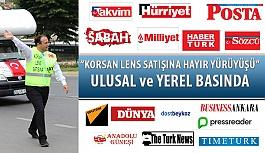 """Erol Harbi'nin """"Korsan Lens Satışına Hayır"""" Yürüyüşü Ulusal Basında Geniş Yer Buldu!"""