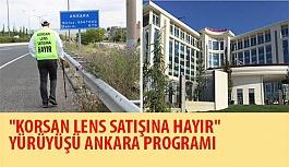 """""""Korsan Lens Satışına Hayır"""" Yürüyüşü Ankara Programı"""