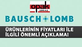 Bausch & Lomb Ürünlerinin Fiyatları...