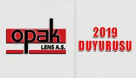 Opak Lens'ten 2019 Fiyat Duyurusu…