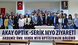 Akay Optik Akdeniz Üniversitesi Serik MYO Optisyenlik Bölümü Ziyareti