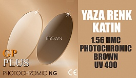 1.56 HMC PHOTOCHROMIC BROWN UV 400 İle Yaza Renk Katın