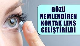 Gözü nemlendiren lens geliştirildi