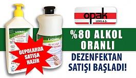 Opak Lens'in %80 Alkol Oranlı Lionel Dezenfektan Satışı Başladı!