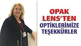 Opak Lens'ten Optiklerimize Teşekkürler