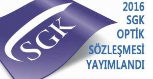 Sgk 2016 Optik Sözleşmesi Yayımlandı