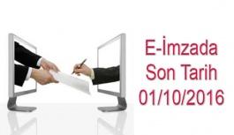 E-reçete güvenli elektronik imza sürecine...