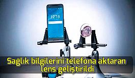 Sağlık bilgilerini telefona aktaran lens...