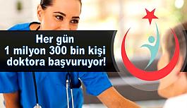 Her gün 1 milyon 300 bin kişi doktora...