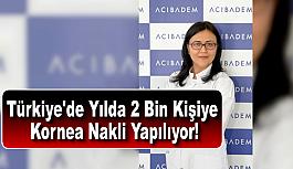 Türkiye'de Yılda 2 Bin Kişiye Kornea...