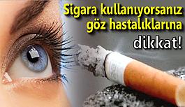 Sigara kullanıyorsanız göz hastalıklarına...