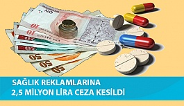 Sağlık Reklamlarına 2,5 Milyon Lira Ceza...
