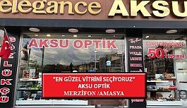 """""""En Güzel Vitrini Seçiyoruz"""" Yarışması: Aksu Optik-Merzifon /Amasya"""