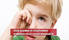 Gözü Kaşımak ve Ovuşturmak Korneada Kalıcı Hasar Bırakabilir