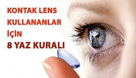Kontak Lens Kullananlar İçin 8 Yaz Kuralı