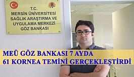 Mersin Üniversitesi Göz Bankası 7 Ayda...