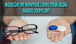 Uzmanlardan Kontak Lens ve Gözlük Temizliği...