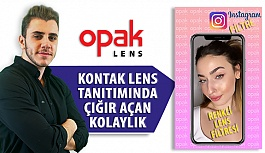 Opak Lens'ten Renkli Lens Tanıtımında...