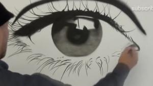 En gerçek göz çizimi...
